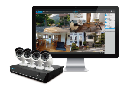 4MP PoE IP Camera with 8-channel NVR